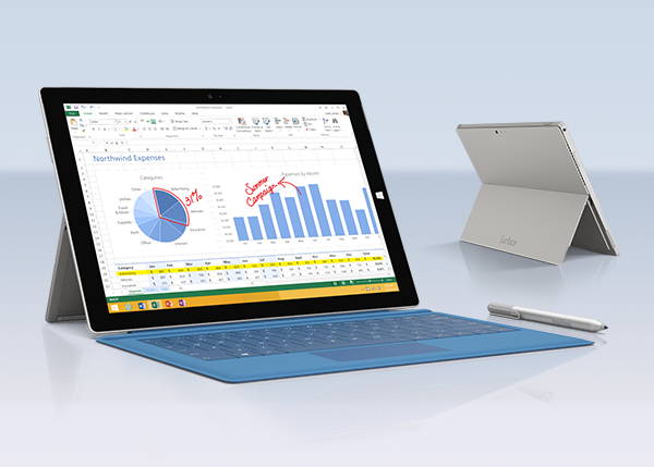 Core i7-powered Surface Pro 3 sports 12-inch screen, is just 9.1mm thick