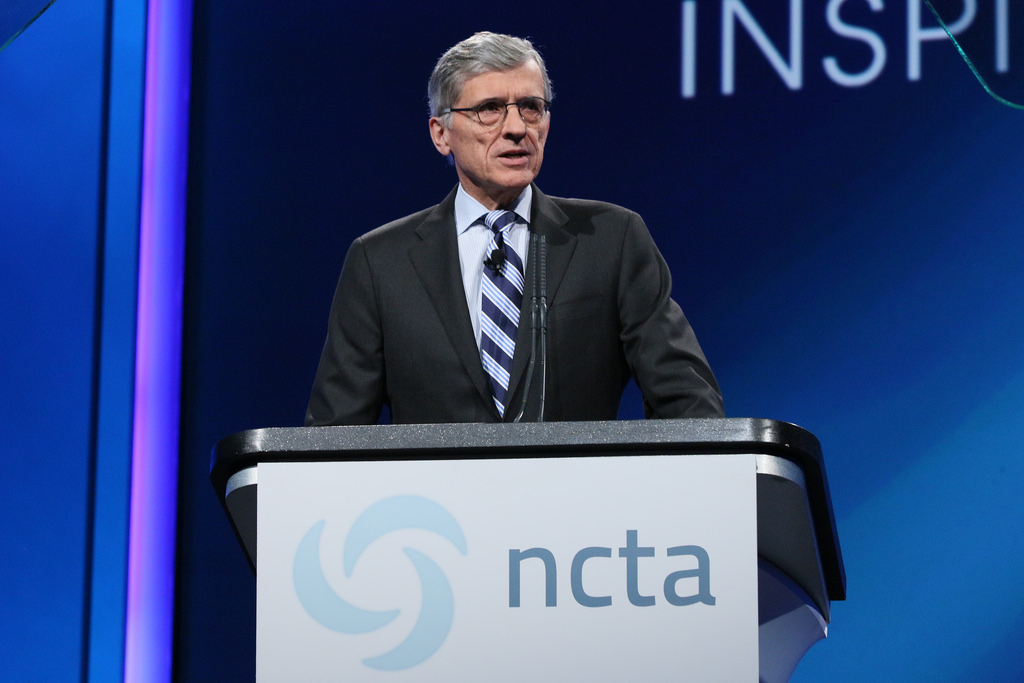 FCC Chairman Tom Wheeler, a former NCTA CEO himself, speaking to the cable industry in April 2014.