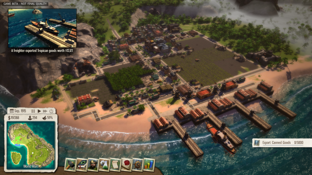 A scene from <i>Tropico 5</i>, deemed inappropriate for sale in Thailand by the ruling junta.