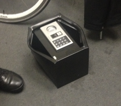 The safe delivered to Ninemsn's offices today.