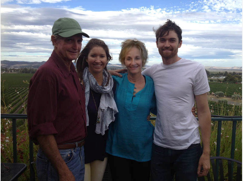 Kirk Ulbricht (left) and Lyn Ulbricht (second from right) visited with their son, Ross Ulbricht (right), in California weeks before his arrest in October 2013.