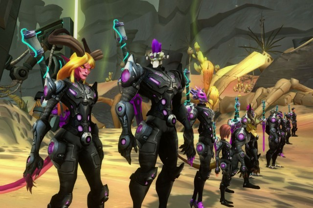 There are plenty of varied characters to choose from in the Wildstar universe.