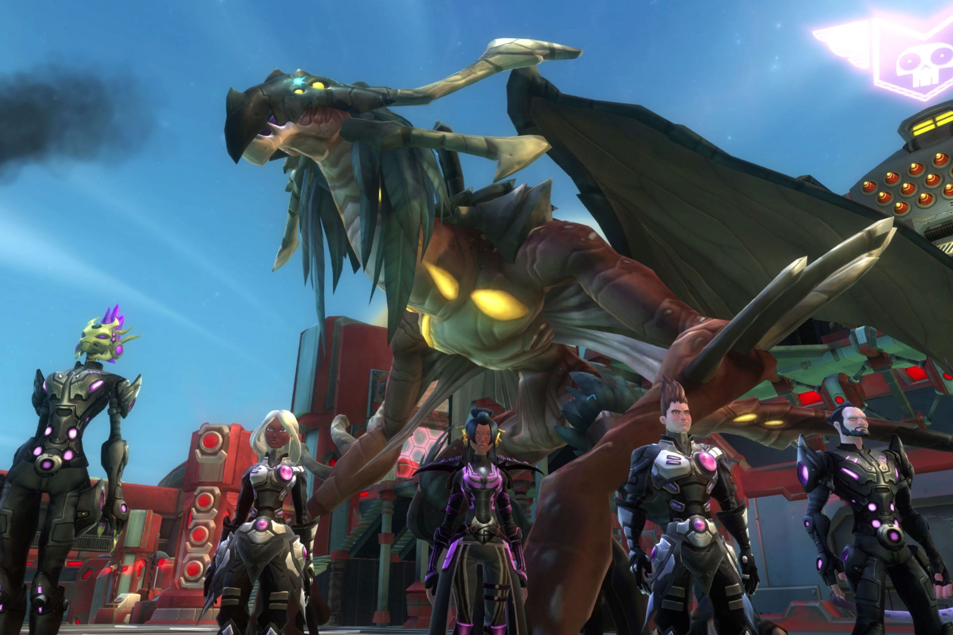 It wouldn't be an MMO without dragons—even if they're space dragons.