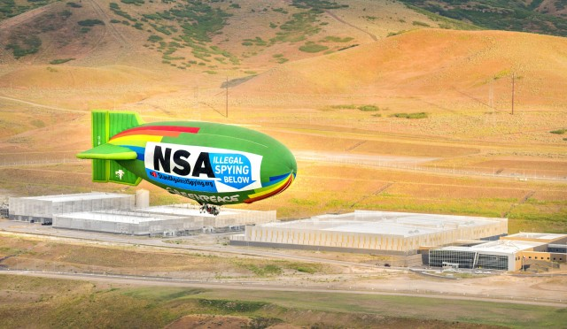 "Airship flies above NSA data center, decries ""Illegal Spying Below"""