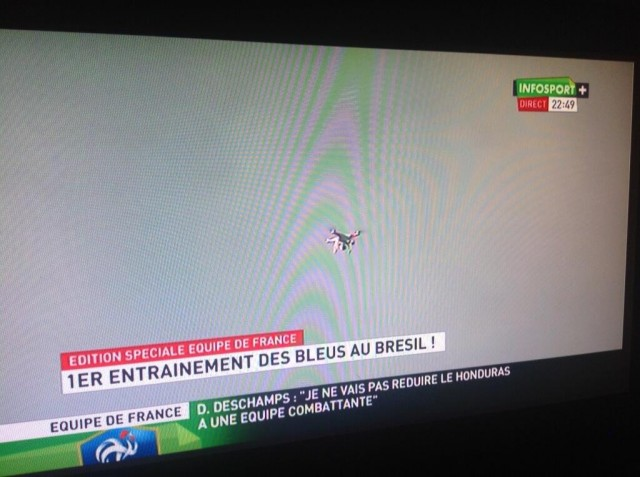 "France cries foul at World Cup ""spy drone"""