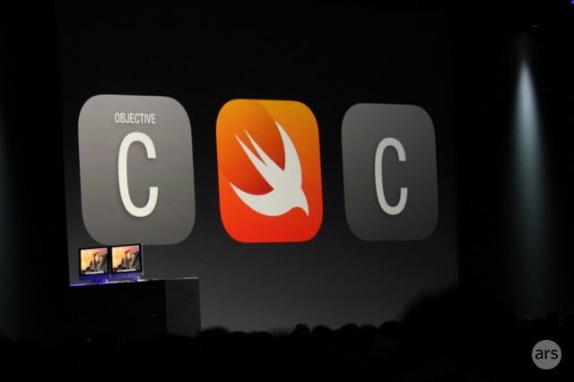 Apple shows off Swift, its new programming language