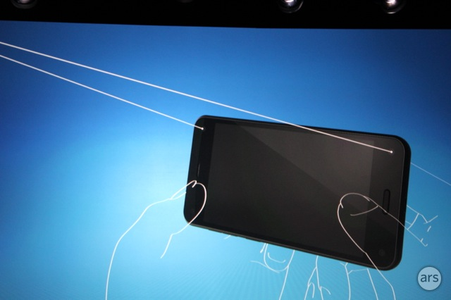 The Fire Phone's four front-facing cameras are used for head tracking.