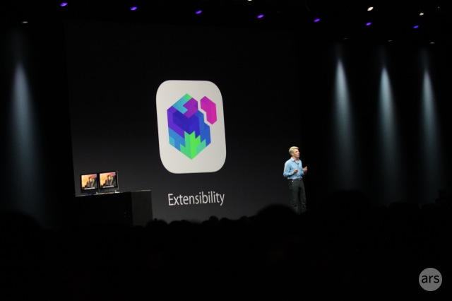 iOS developers are excited to extend the platform without resorting to workarounds.