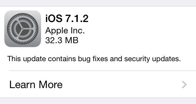 Apple releases iOS 7.1.2 with iBeacon, mail attachment encryption fixes