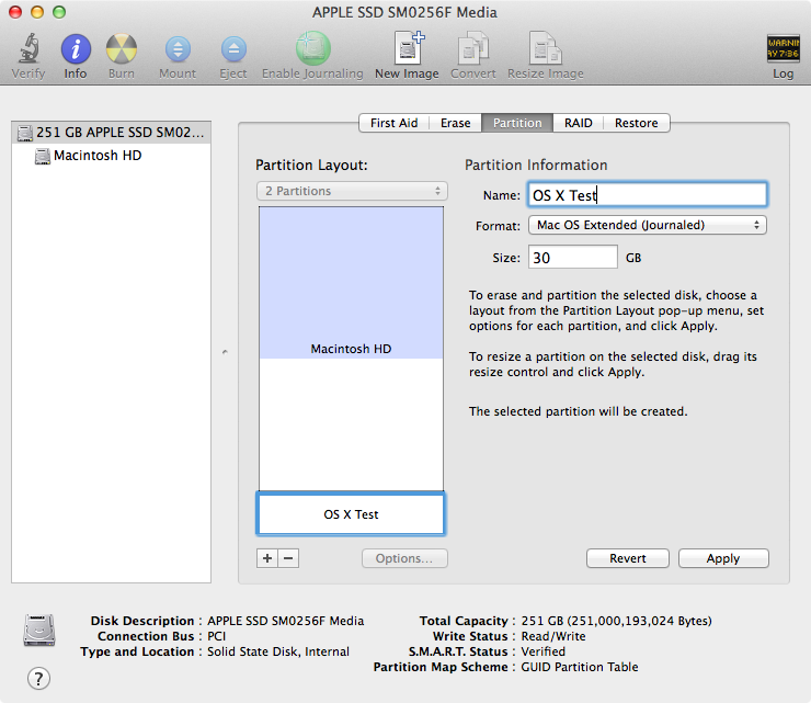 Stress Test Os X: How To Create A Test Partition For The OS X Yosemite Beta