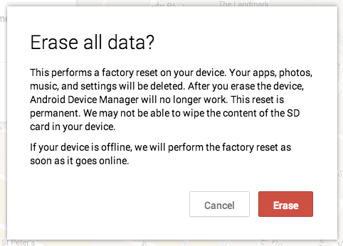 Remotely wiping an Android phone will protect your data, but the device can still be used and resold.