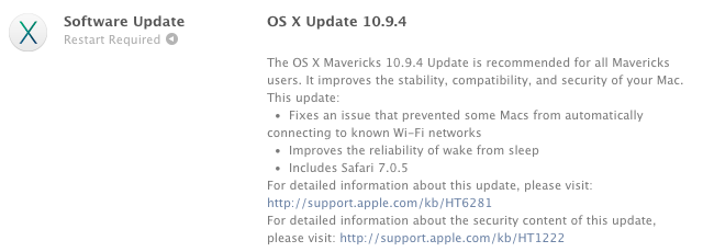 Apple releases OS X 10.9.4 with wake-from-sleep and Wi-Fi fixes