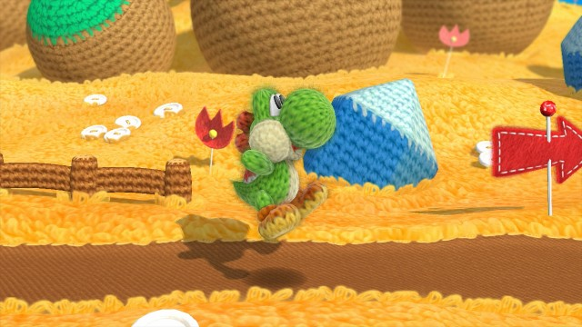 <i>Yoshi's Wooly World</i> combines elements of <i>Yoshi's Island</i> and <i>Kirby's Epic Yarn</i>.