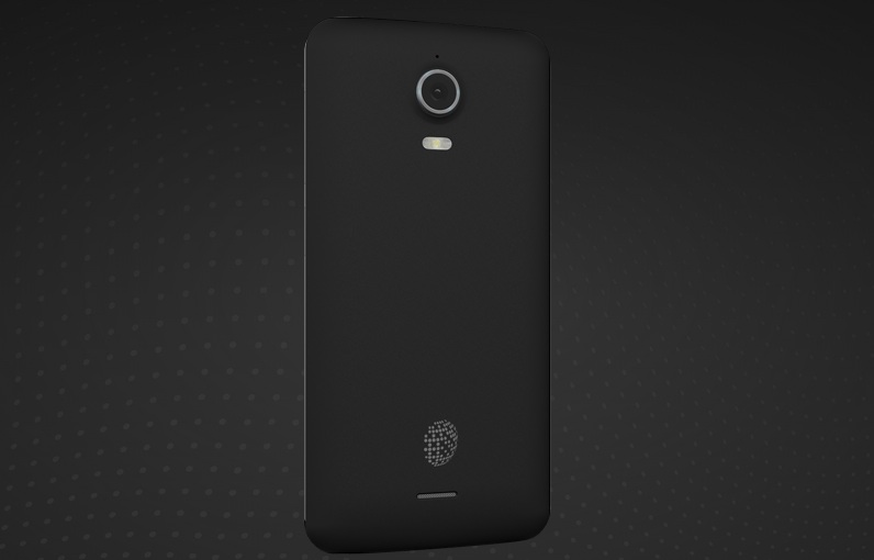 The back of the Blackphone, with its 8-megapixel camera.