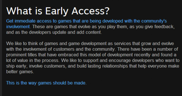 "Few Steam ""Early Access"" games have actually been completed"