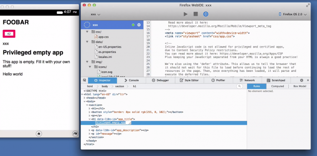 Mozilla puts a development environment into the browser with WebIDE