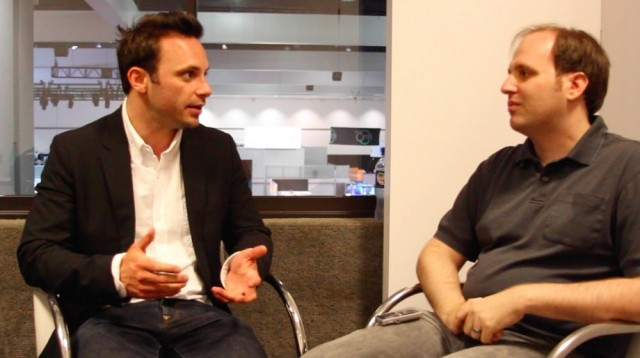 "Oculus CEO Brendan Iribe (left) says he's not expecting ""a console-scale market"" right out of the gate."