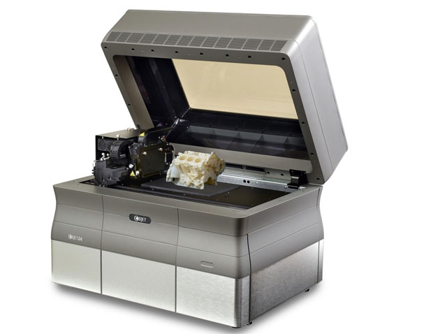The Objet24 3D printer.