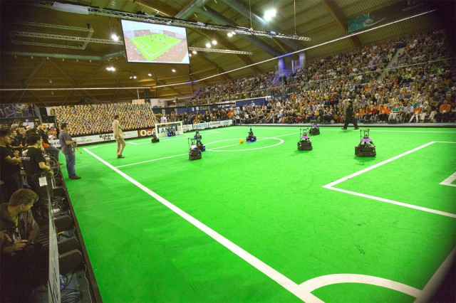 The 2013 Robocup in Einhoven, Netherlands.