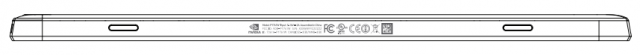 A drawing of the label placement from the FCC documents.