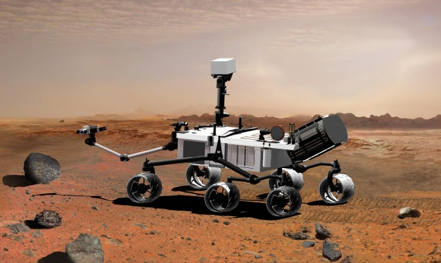 This is Curiosity, but physically, Mars 2020 will look quite similar.