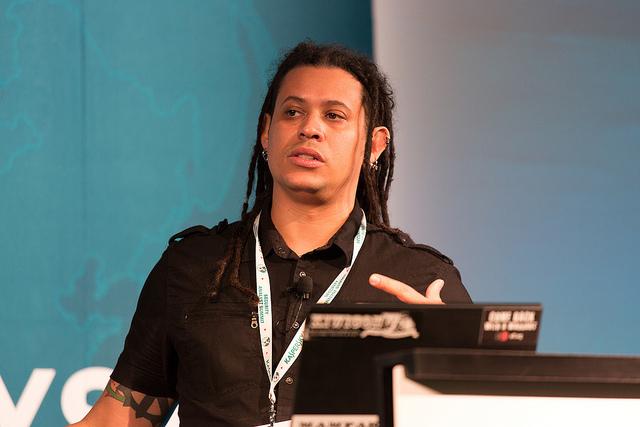Citizen Lab's Morgan Marquis-Boire during a 2013 talk.
