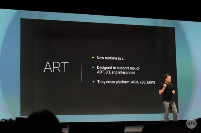 Google's Dave Burke runs down ART's most desirable features at the Google I/O keynote.