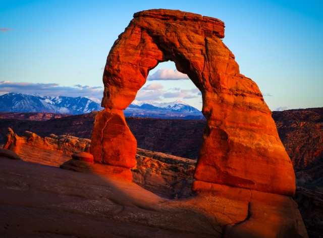Delicate Arch at Arches National Park in Utah.