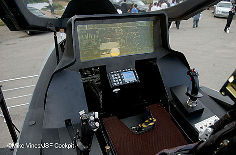 The cockpit of the F-35 is a spartan place.