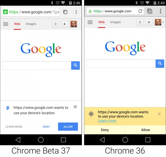 Gallery: Chrome Beta for Android gets a Material Design makeover