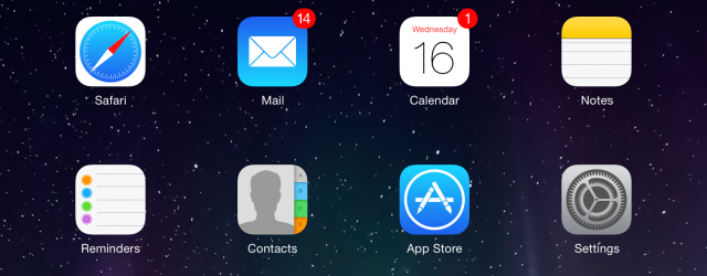 Icons in iOS 7.