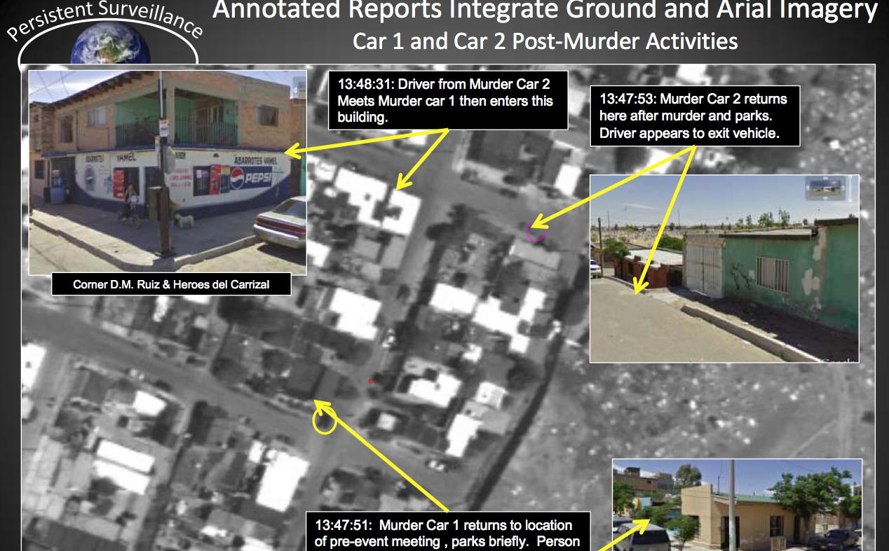 PSS says that its images observed many murders when flying over Juarez, Mexico.