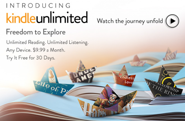 Amazon rolls out Kindle Unlimited e-book subscription service