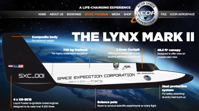 The XCOR Lynx Mark II.