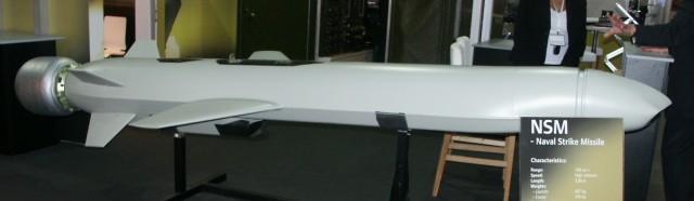 A mock-up of the NSM at a defense trade show.