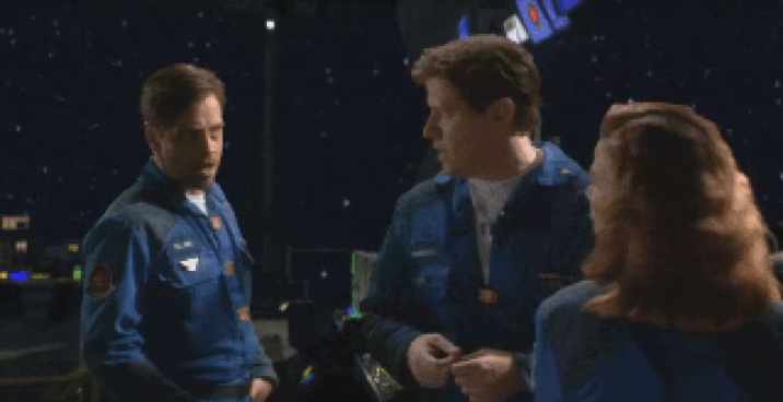 "<em>Wing Commander III</em> introduced full-motion video. Pictured here are Luke Skywalker, Space Biff Tannen, and Flint, the love interest no one picked because the other love interest was <em>literally <a href=""https://en.wikipedia.org/wiki/Ginger_Lynn"">Ginger Lynn</a></em>."