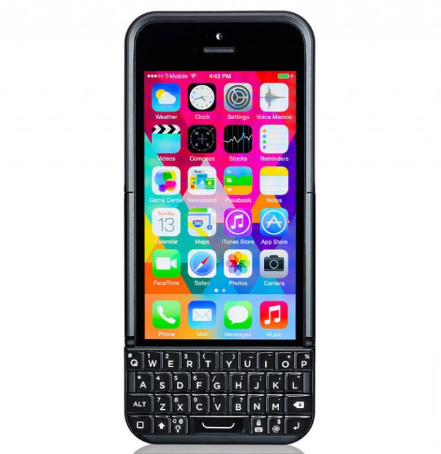 The new Typo 2 keyboard case. It now looks kind of like a BlackBerry instead of exactly like a BlackBerry.
