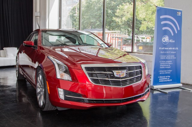 The 2015 Cadillac ATS coupe with integrated LTE. It's basically a big red smartphone.