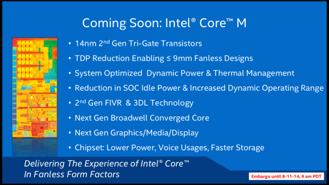 Core M is nothing if not a showcase for Broadwell's new tech.