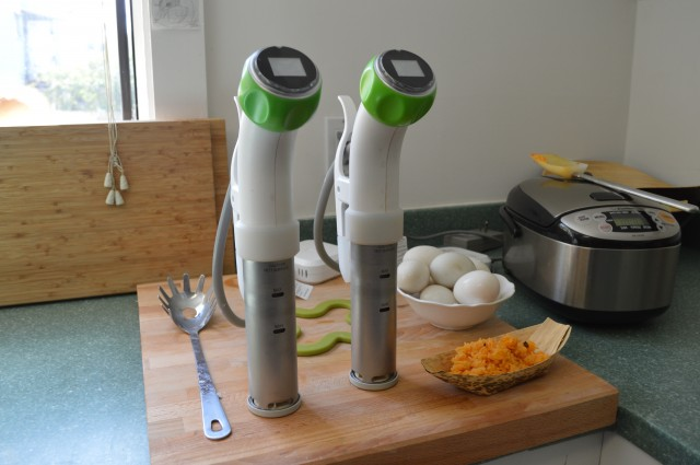 The original Nomiku stands at attention in the company's kitchen.