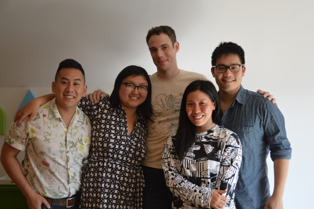 The Nomiku team. From the left: Marketing director Patrick Wong, co-founders Lisa and Abe Fetterman, Creative Director Monica Lo, Designer Wipop Bam Suppipat.