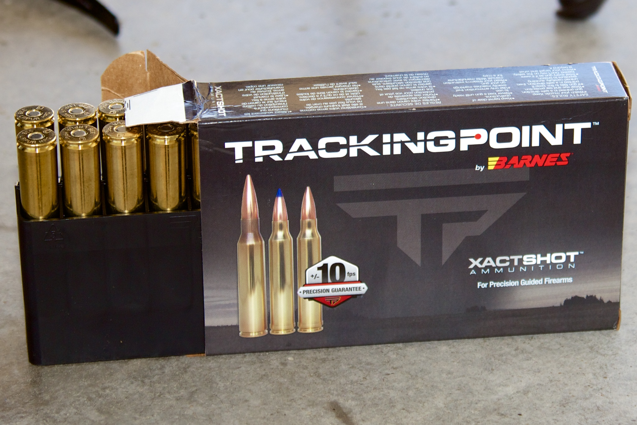 TrackingPoint-branded match grade ammunition from Barnes Bullets.