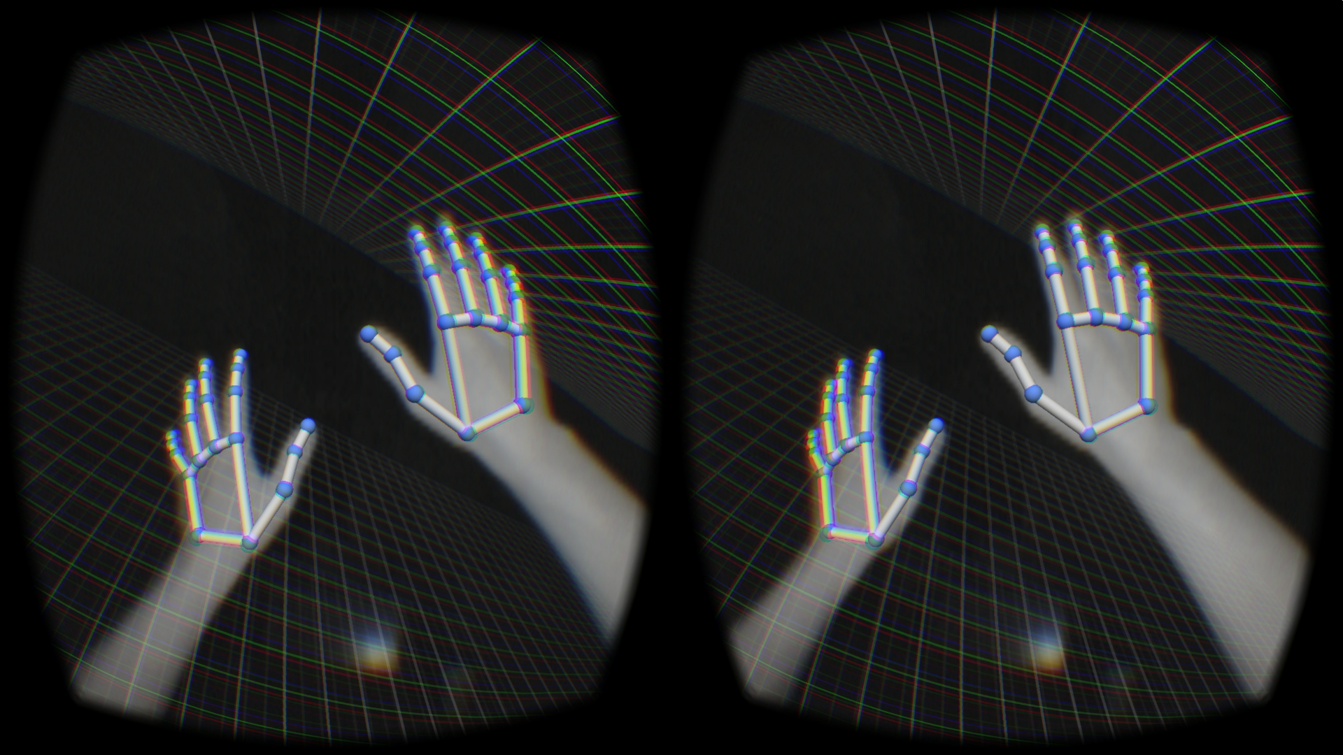 The Leap Motion already tracks hands very well, and the new SDK lets the Leap keep working while attached to your face.