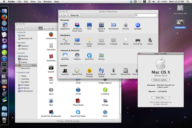 Leopard isn't exactly snappy on an 800MHz G4, but it's much closer to the modern OS X experience and can still run a fair number of near-modern apps.