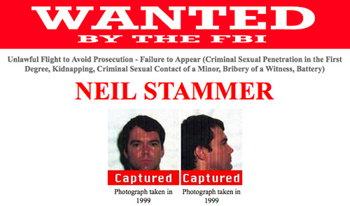 Stammer's wanted poster.