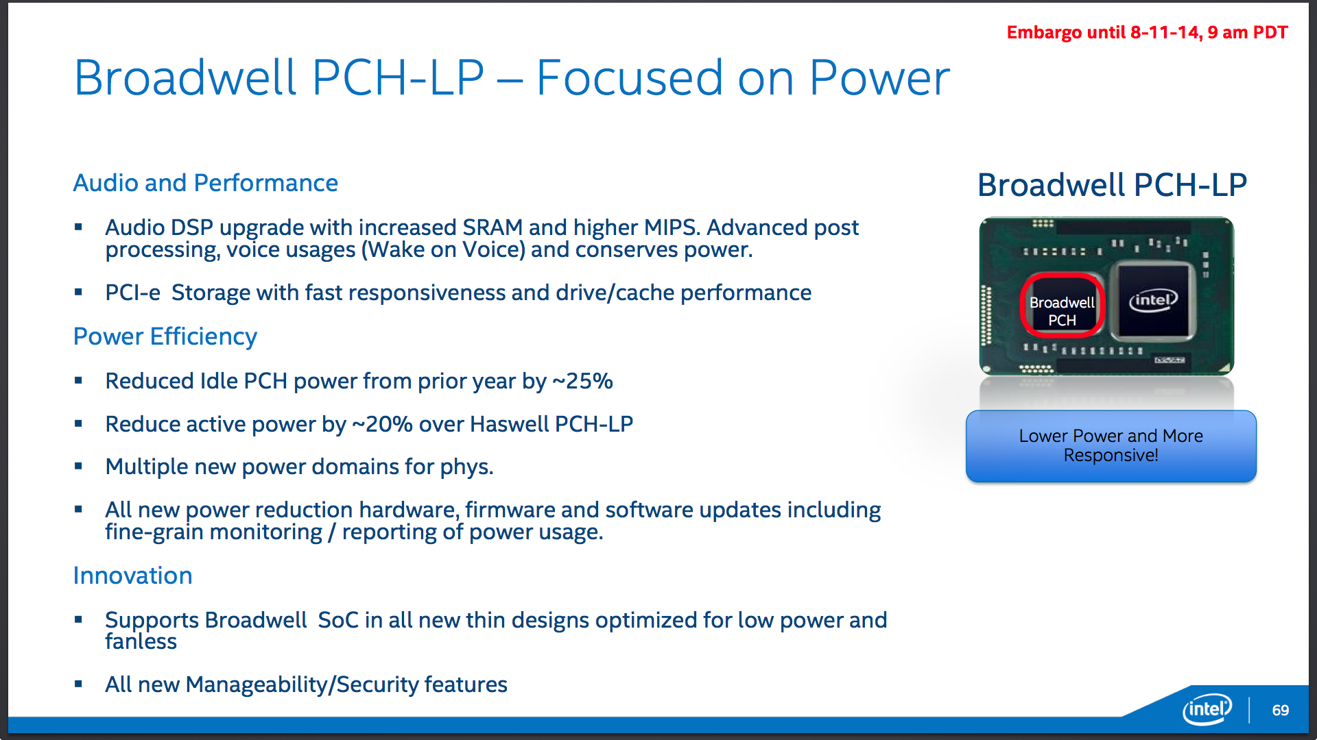 Core M's PCH will be a member of the 9-series family of chipsets, some of which have already been released for desktop users.