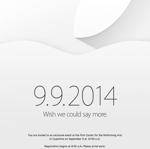 """Wish we could say more"": Apple makes the September 9 event official"