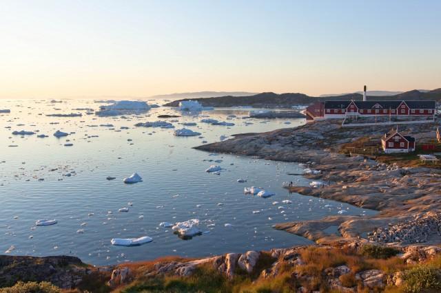 Ilulissat, Greenland, in the summer.