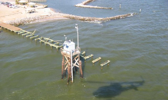 A NOAA tide gauge.