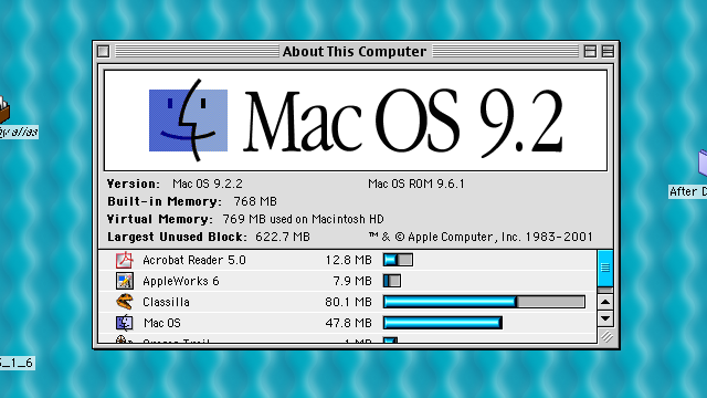 The intro page for MacOS 9.2